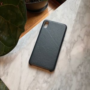 Green leather Apple iPhone XS Max case